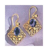 Iolanthe Iolite Earrings-Screw Backs
