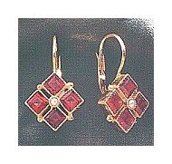Gwynneth Garnet Earrings