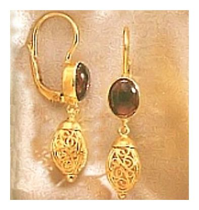 Hedda Gabler Garnet Earrings