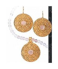 Set of Mantua Moonstone Earrings & Necklace