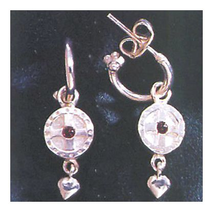 St. Augustine Silver Cross Earrings
