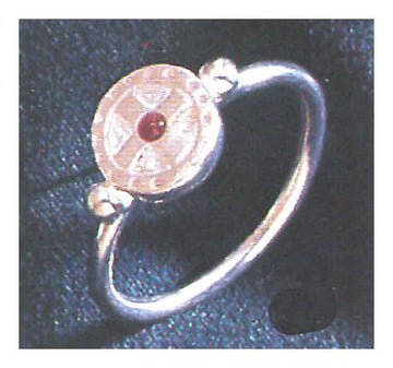 St. Augustine Silver Cross Ring