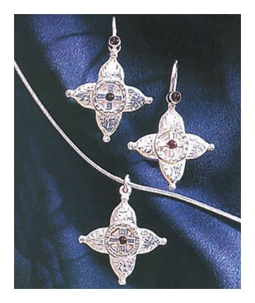 Set of St. Sophia Earrings & Necklace