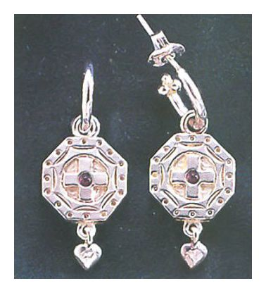 Canterbury Silver Cross Earrings