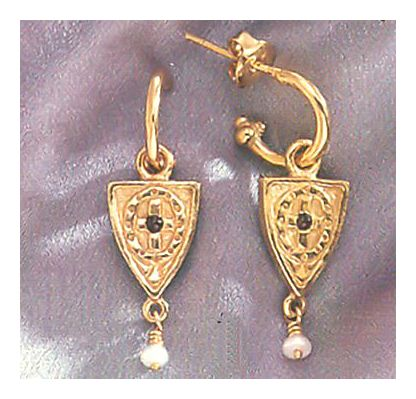 Avignon Shield Earrings