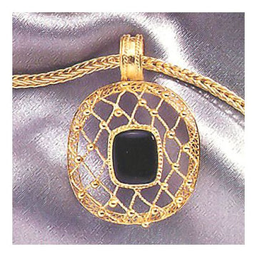 Heavenly Web Onyx Necklace