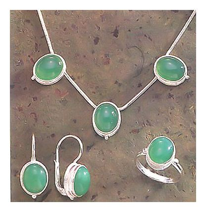 Set of Maggie O'meara Earrings, Necklace and Ring