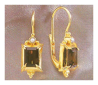 House of Anjou Smoky Topaz Earrings