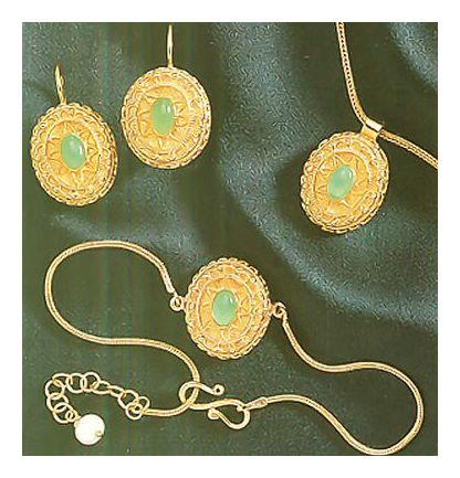 Set of Casablanca Earrings, Necklace, & Bracelet
