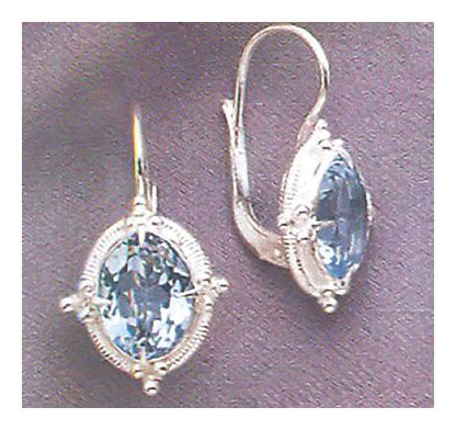 Cinderella Blue Topaz Earrings