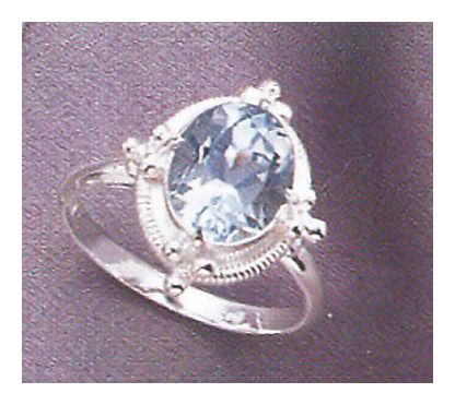 Cinderella Blue Topaz Ring
