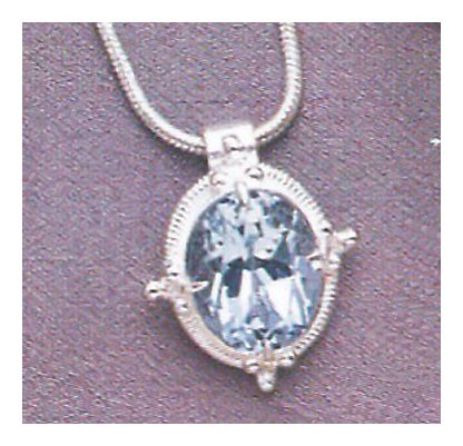 Cinderella Blue Topaz Necklace