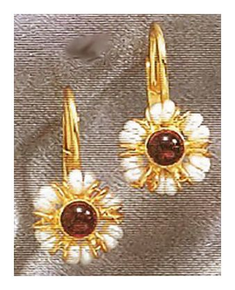 Sweet Adeline Garnet Earrings