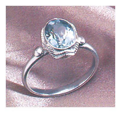 Sea Of Marmara Blue Topaz Ring