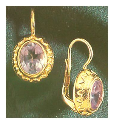 Yvette Guilbert Amethyst Earrings