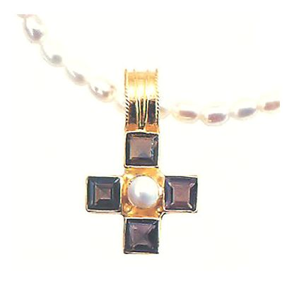 Canterbury Smoky Topaz and Pearl Necklace