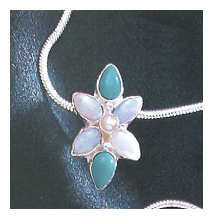 Flora Turquoise, Opal & Pearl Necklace