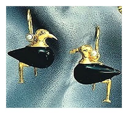 Onyx Sandpiper Earrings-Screw Backs