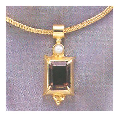 House Of Anjou Smoky Topaz Necklace