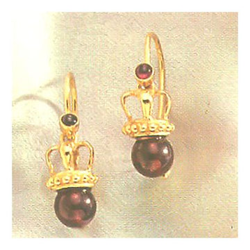Empress Eugenie Garnet Earrings-Screw Backs