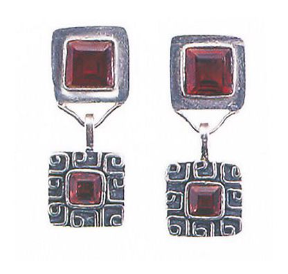Oaxaca Garnet Earrings