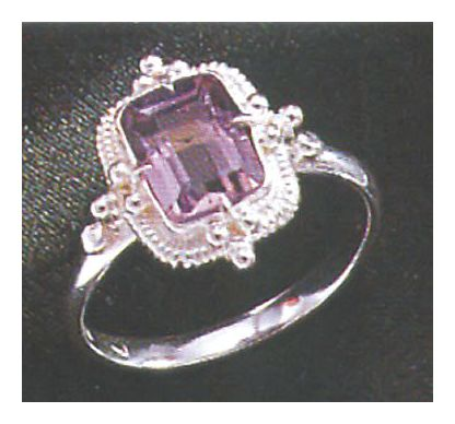Amy Amiable Amethyst Ring