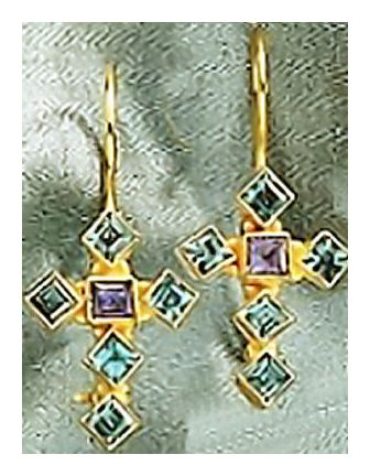 Saint Raphael Cross Earrings