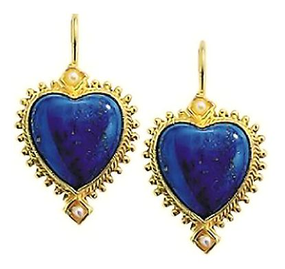 Lola Longing Lapis & Pearl Earrings