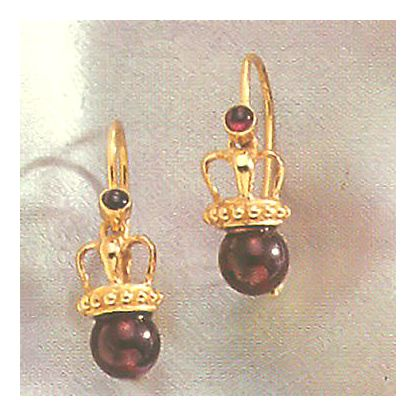 Empress Eugenie Garnet Earrings