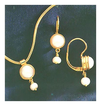 Set of Phillipa Pearl Earrings & Necklace