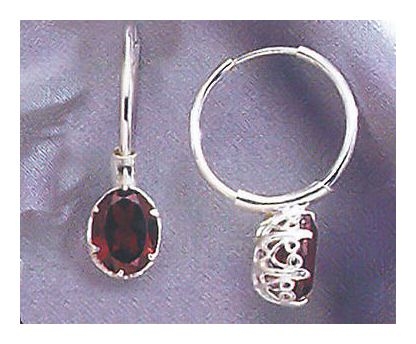 Gwyneth Garnet Earrings