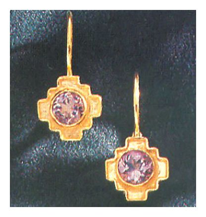 Angelicus Amethyst Byzantine Earrings