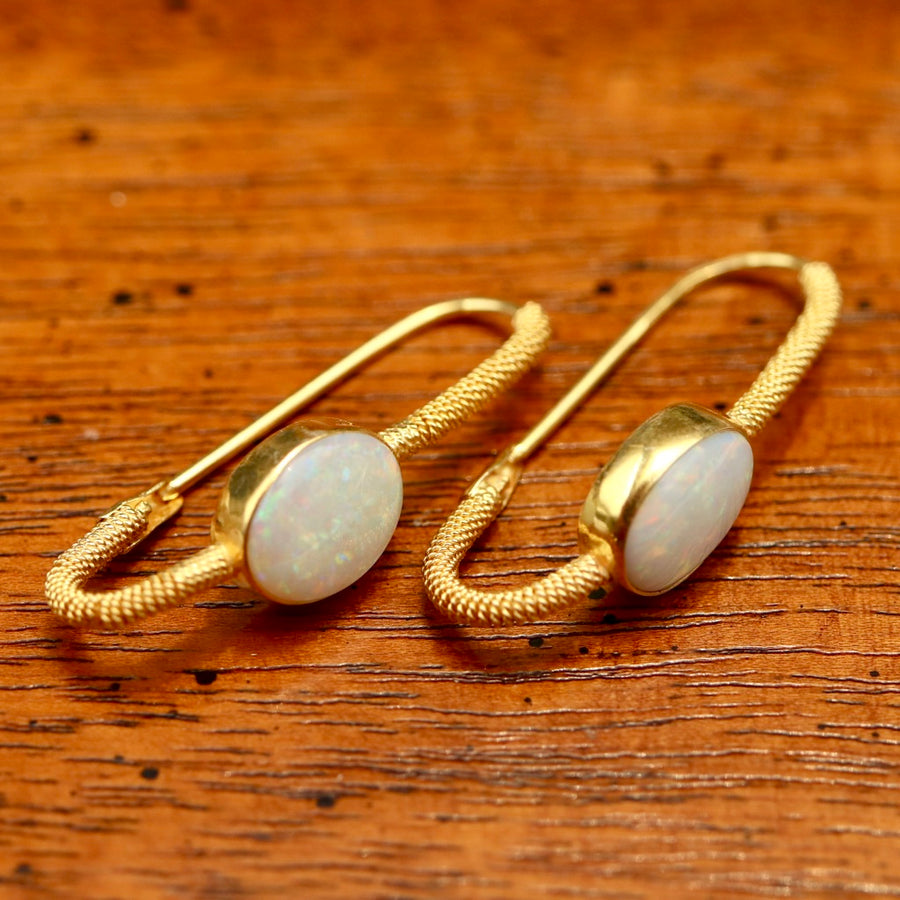 Opal Mirror Earrings