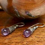Amethyst Greek Dangle Earrings