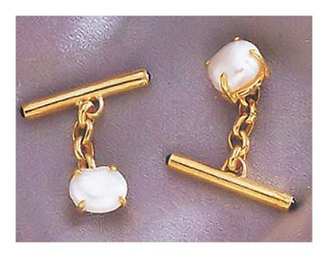 Pepperdine Pearl Cufflinks