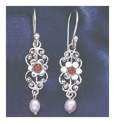 Titania Garnet & Pearl Earrings