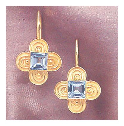 Strasbourg Blue Topaz Earrings