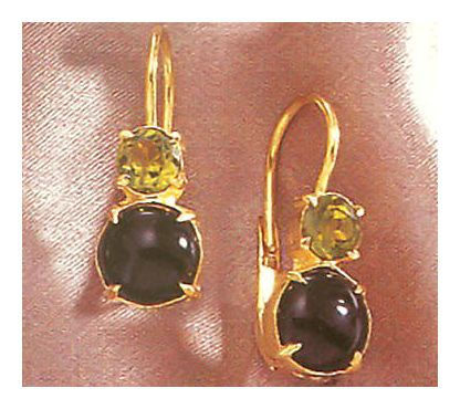 La Boheme Onyx & Peridot Earrings