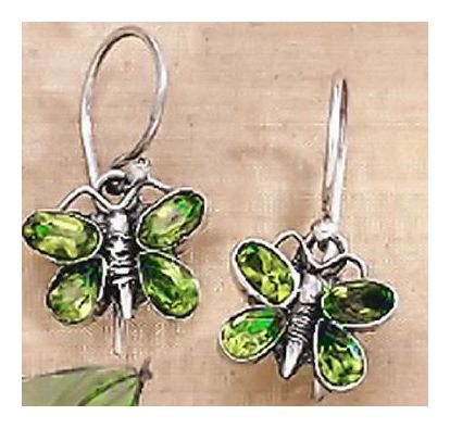 Peridot Butterfly Earrings