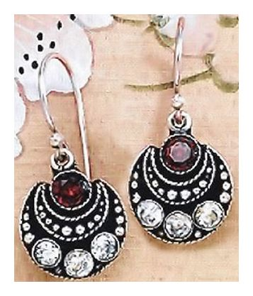 Cafe Algiers Garnet Earrings