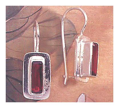 Metropole Garnet Earrings
