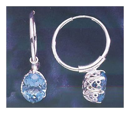 Gwyneth Blue Topaz Earrings