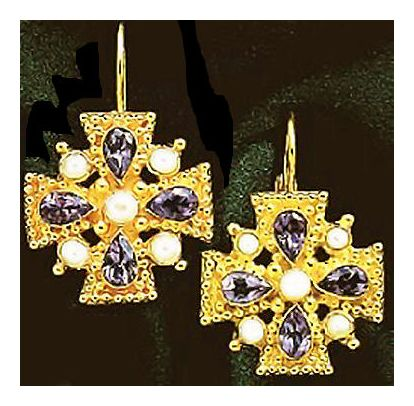 Isabella Of Castille Amethyst Earrings