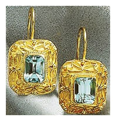 Selsey Blue Topaz Earrings