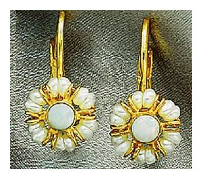Sweet Adeline Opal and Pearl Victorian Earrings