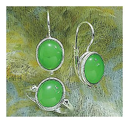 Set of Maggie O'meara Earrings & Ring