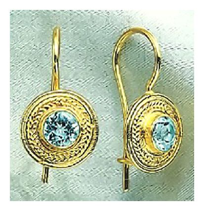 Athena Blue Topaz Earrings