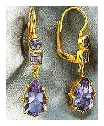 Duchess Of Kent Amethyst Earrings
