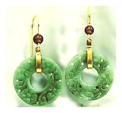 Indian Jade Earrings