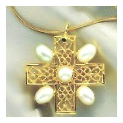 Gloucester Pearl Cross Necklace